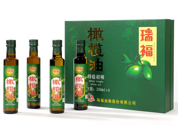 瑞福牌优质初榨橄榄油礼盒250mlX4瓶装