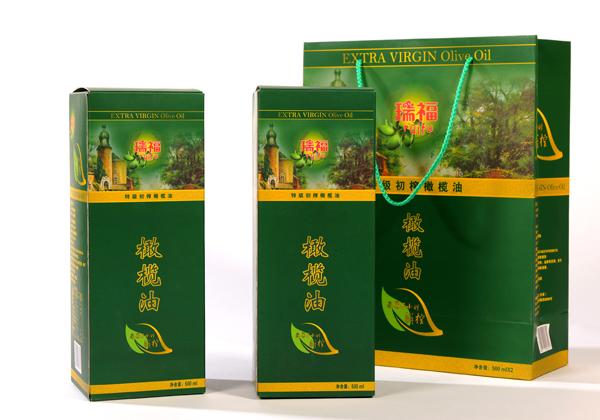 瑞福牌优质初榨橄榄油礼盒500mlx2瓶装