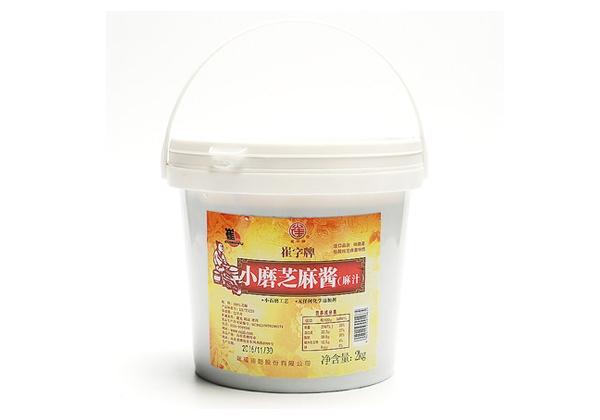 崔字牌无添加纯白芝麻酱 麻汁4斤装