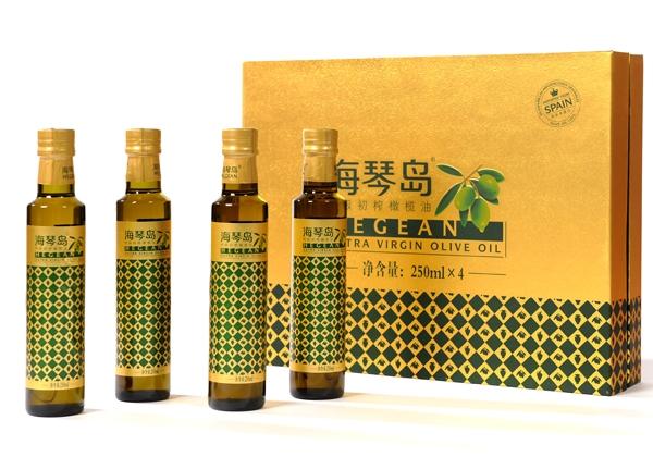 安阳海琴岛优质初榨橄榄油礼盒250mlx4瓶装
