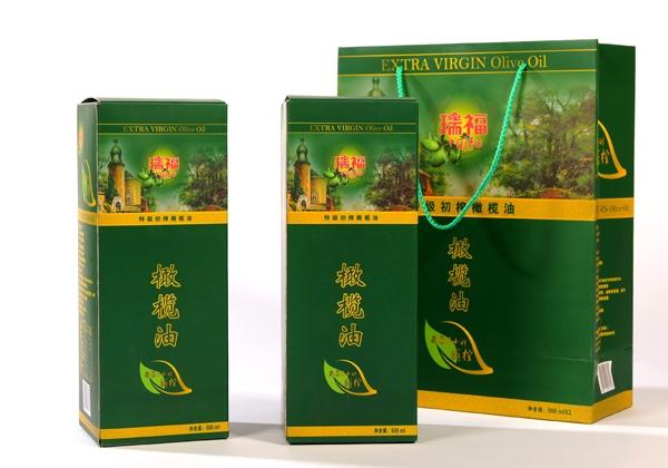 安阳瑞福牌优质初榨橄榄油礼盒500mlx2瓶装
