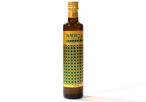 安阳海琴岛优质初榨橄榄油500ml玻璃瓶装